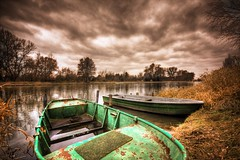 green rowboat (gari.baldi) Tags: trees sky green abandoned reed water clouds germany boats harbour rusty dramatic wideangle peoples rowboat garibaldi brandenburg hdr cattail globalvillage 2007 peopleschoice paperwall sigma1020 flickrsbest 1xp oderberg superaplus aplusphoto goldenphotographer diamondclassphotographer flickrdiamond bratanesque superhearts themawasserfoto