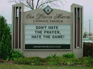 Don't hate the prayer...