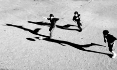 (Nocturnales) Tags: street light shadow bw paris france football soccer rue notstreetstreet mikaelmarguerie