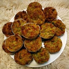 muffins mit thunfisch & zucchini