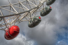 HDR Eye (Bucky O'Hare) Tags: charity red london eye wheel nose comic ferris hdr releif