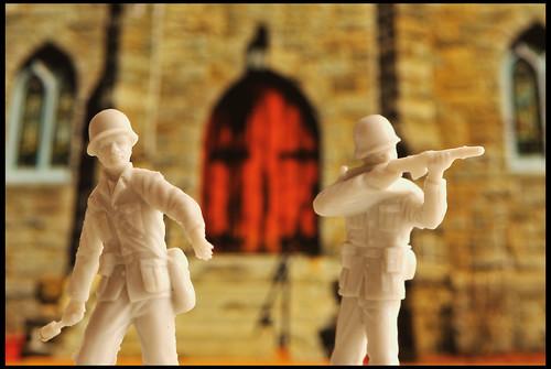 defending the doors of the church