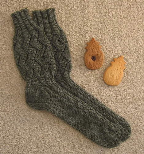 Socks and pineapple-shaped shortbread