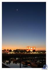 Sunset Behind The Fish Market (Q8e) Tags: sunset moon fish marina canon boats market dusk kuwait souq fahad kuwaiti q8 sharq xti 400d q8e ef2470mml