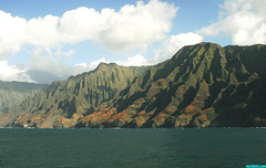 NaPali72 (mcshots) Tags: ocean travel sea sky plants usa mountains green beach expedition nature water clouds hawaii islands coast view cliffs mcshots napali hawaiianislands
