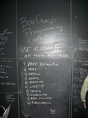 BarCampBoston2 Programming Contest topic board