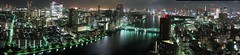 Tokyo At Night, Panorama (Ian Muttoo) Tags: longexposure autostitch panorama japan night tokyo pano tokyotower soe tsukijifishmarket rainbowbridge sumidariver kachidokibashibridge seiroka tokyocentralwholesalemarket stlukesgarden hotelnewhankyu