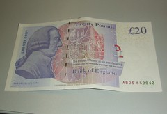 New 20 pound note - back