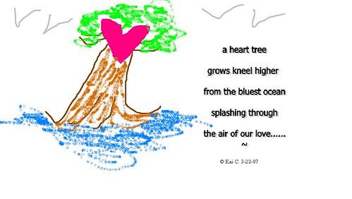 a heart tree