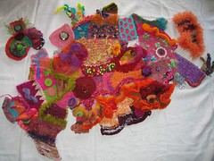 Freeform Knitting - 140 of 365 (Velma's World) Tags: knitting handmade ooak crochet knit handknit wip yarn 365 crafty fiberart day140 freeform scrumble freeformcrochet colorbomb scrumbling velmasworld freeformknitting freeformknitting365 colorbombcreations