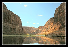 Colorado River at Glen Canyon (near Lake Powell), Arizona (discopalace) Tags: travel arizona usa reflection nature topf25 water river us unitedstates grandcanyon coloradoriver soe lakepowell glencanyon naturesfinest instantfave 25faves abigfave impressedbeauty aplusphoto superbmasterpiece beyondexcellence flickrchallengegroup flickrdiamond flickrchallengewinner