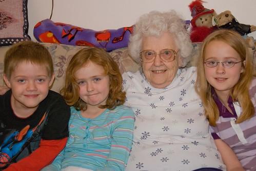 Grandma Maxine and the kids