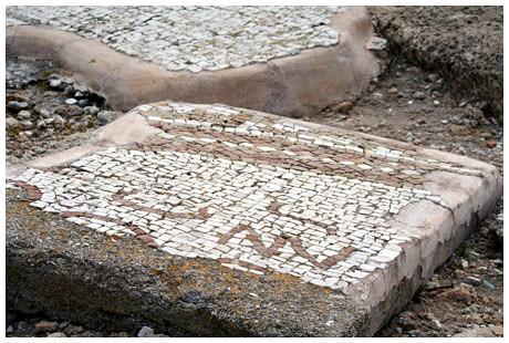Tile floors recovered in Capernaum