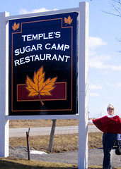 Temple's Sugar Camp Sign