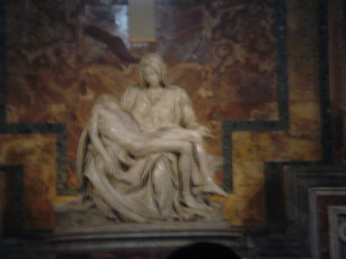 The Pietà sculpted by Michelangelo