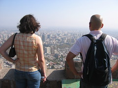 Percival and Kate overlooking Santiago
