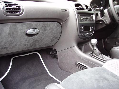 Peugeot 206 Gti Interior. Peugeot 206 GTi 180. Passenger footwell interior.