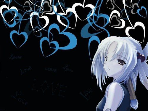 Anime pictures, anime wallpapers, anime characters, blue dark, heart