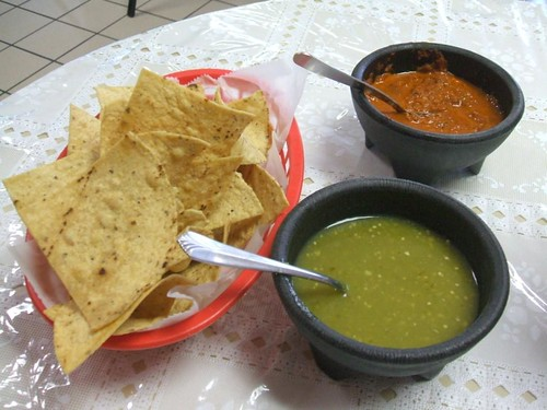 Real chips and salsa