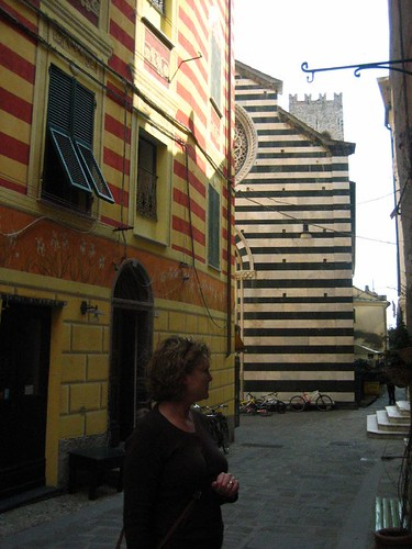 Jodi and colorful buildings, Monterosso