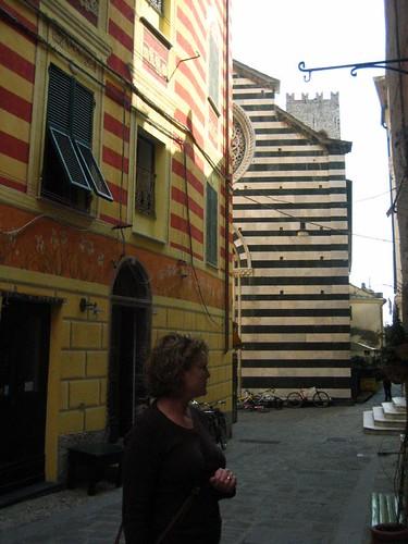 Jodi and colorful buildings, Monterosso