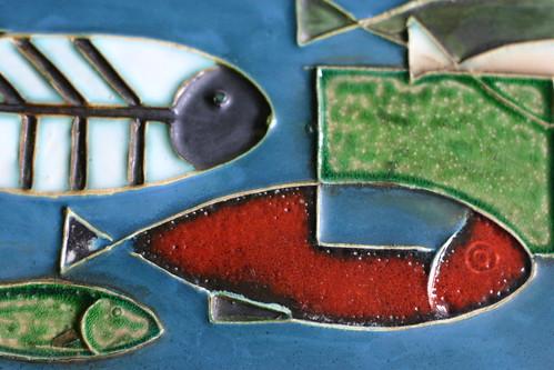 Väggtavla fiskar