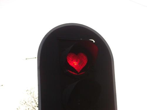 Le feu rouge en forme de Coeur