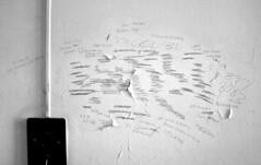 Shitlist (Desolate Places) Tags: abandoned wall pencil insane room patient isolation insanity disturbing ward asylum hitlist receivedanemailfromyahooautomatonthingsmaybehappening idohavetosaytheonepositivethinghereitmademeseekoutanoldl7songthatihaventheardsinceseeingtheminconcertlollapoloozamanyyearsago