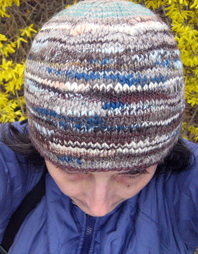 My first hand spun hat on