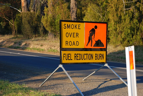 Fuel Reduction Burn Road Sign