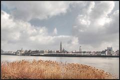 Skyline Rechteroever (piggy2007b) Tags: skyline clouds river wolken antwerp schelde antwerpen flanders rivier vlaanderen tweeduizend