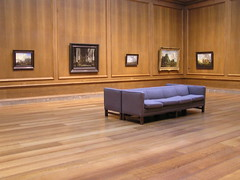museum on a weekday (erin m) Tags: wood art museum washingtondc paintings nationalgallery nationalmall dcist emptycouches