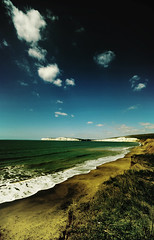 Compton Bay - A saturated landscape (s0ulsurfing) Tags: ocean blue light sea wild sky cloud sun colour green beach water beautiful beauty grass sunshine clouds composition wow wonderful downs landscape freedom bay coast chalk spring amazing fantastic sand bravo scenery warm waves skies colours escape view compton wide vivid fluffy wave wideangle down ps cliffs explore wash coastal isleofwight stunning vista strong coastline incredible tones isle tone channel wight 2007 tennyson 10mm naturesfinest blueribbonwinner comptonbay interestingness13 sigma1020 outstandingshots s0ulsurfing abigfave anawesomeshot diamondclassphotographer flickrdiamond