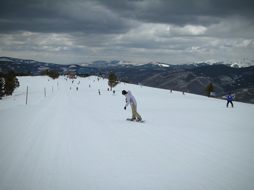 Skiing At Vail, Mid Vail Peak