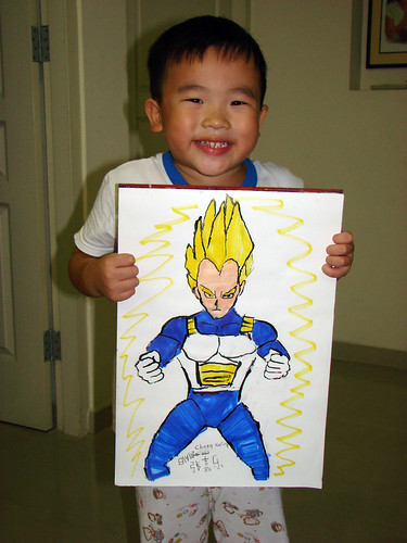 Thanks Akira Toriyama again given me a hair style of super saiyan!