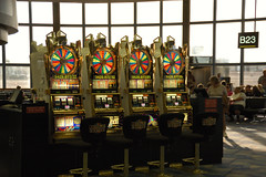 Slot Machines in the Las Vegas Airport
