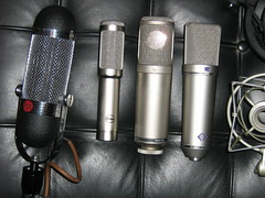 Microphones for Recording. AEA R84 and Peluso R14 ribbons Rode K2 tube Neumann U87 FET Piano (soundweavers) Tags: microphones mics tubemic neumannu87 ribbonmic aear84 pelusor14 rodek2
