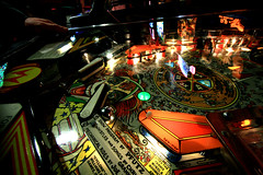 "Detail of the ""Cyclone"" pinball game"