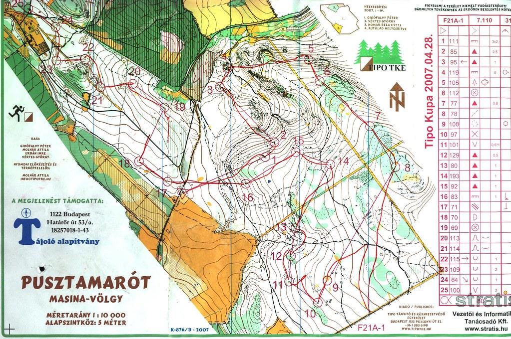 Tipo Kupa 1. nap - Pusztamarót - Térkép
