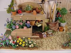 Miniature Potting Shed 1:12 Scale Miniature (MiniatureMadness) Tags: flowers miniatures miniature mini dollhouse oneinchscale miniaturedoll 112scale dollhouseminiature handcraftedminiature