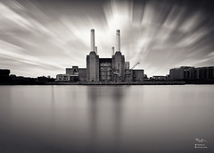 Battersea Power Station. (Lee Ramsden) Tags: london battersea power station long exposure clouds monochrome borough largest brick building decommisioned