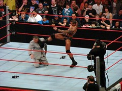 Randy Orton kicks McMahon
