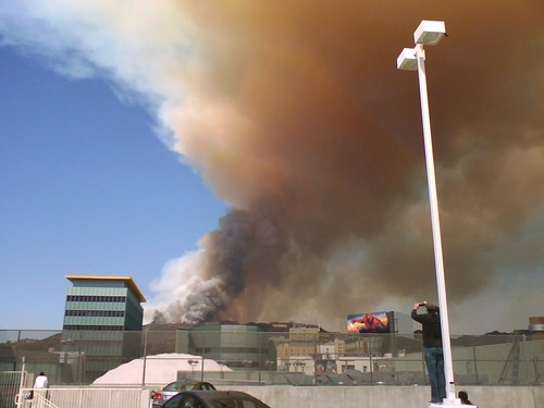 Hollywood Hills Fire 2007