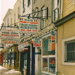Pizza! (Ciel Rouge) Tags: 120 newjersey holga jerseycity pizza squareformat fujicolorpro400h citybelt