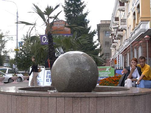 Krasnoyarsk is rich with Fountains ©  zhaffsky