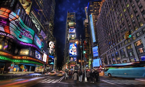 Amazing Photo of Times Square at Dusk, a HDR Picture