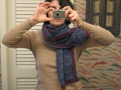 birds nest shawl- in scarf form