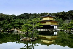 Kinkakuji (Farl) Tags: travel lake colors japan reflections gold golden kyoto zen pavilion tradition kinkakuji unescoworldheritage goldenpavilion rokuonji templegarden