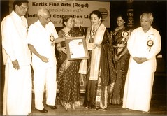 Gayathri Girish - Receiving Isai Peroli Award