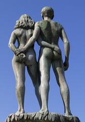 1948 fountain of Ask and Embla (dukematthew2000) Tags: statue sweden nordic sölvesborg abigfave